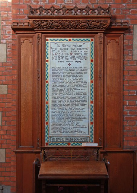 St Luke, Ryfold Road, Wimbledon Park - War Memorial