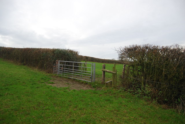Stile on the path from Littlebredy