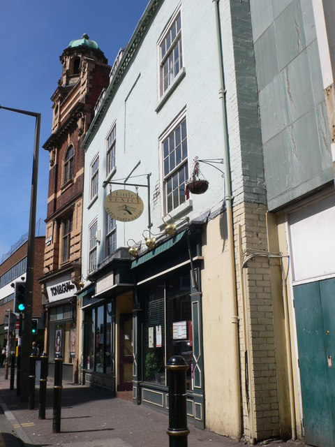 Shops on St Nicholas Street, Worcester