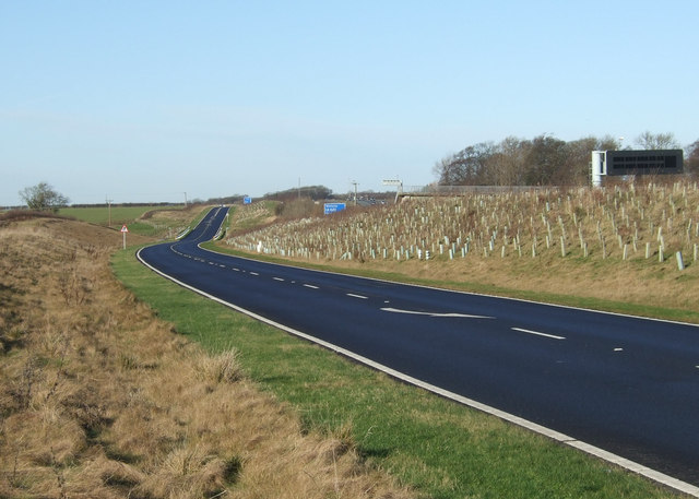 West Woods Road towards Collingham