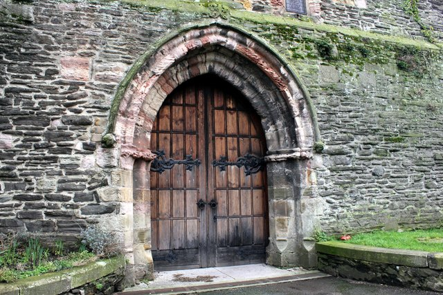 Doorway in St Mary and All Saints Church, Conwy