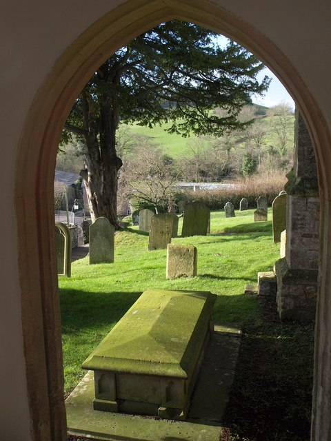 View from the church porch, Awliscombe