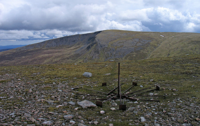 Sgairneach Mhòr from north-east ridge of Beinn Udlamain