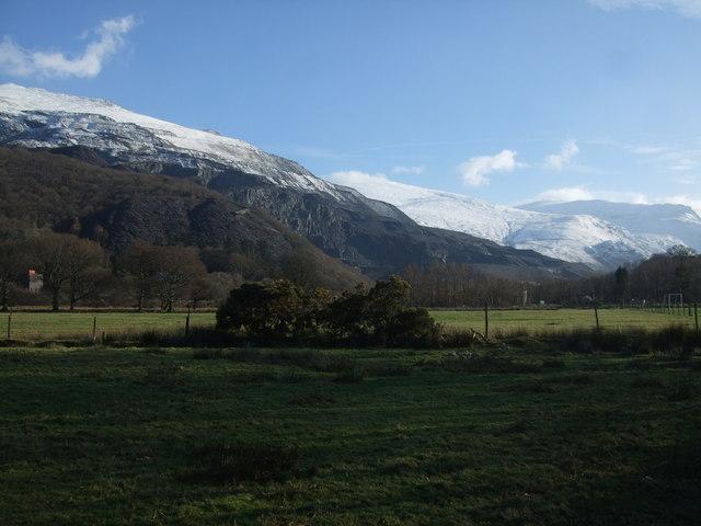 View from Llanberis towards Glyder Fawr