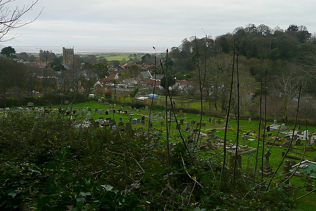 View over Dunster Cemetery