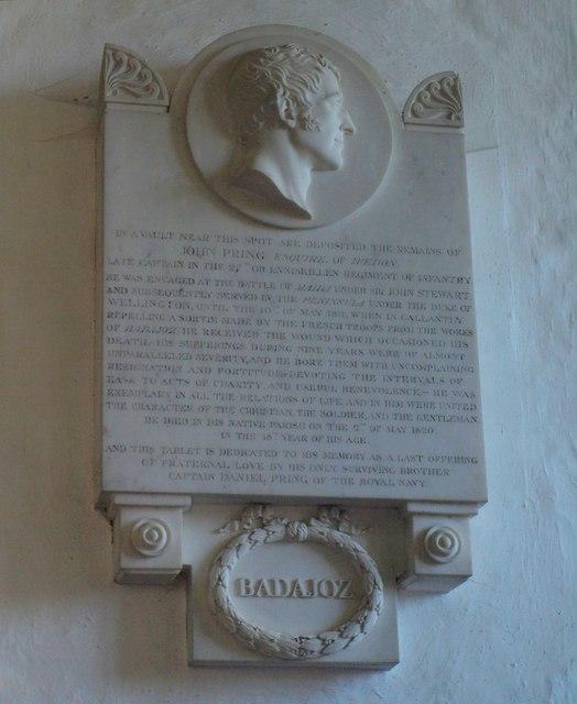 Memorial, Awliscombe church