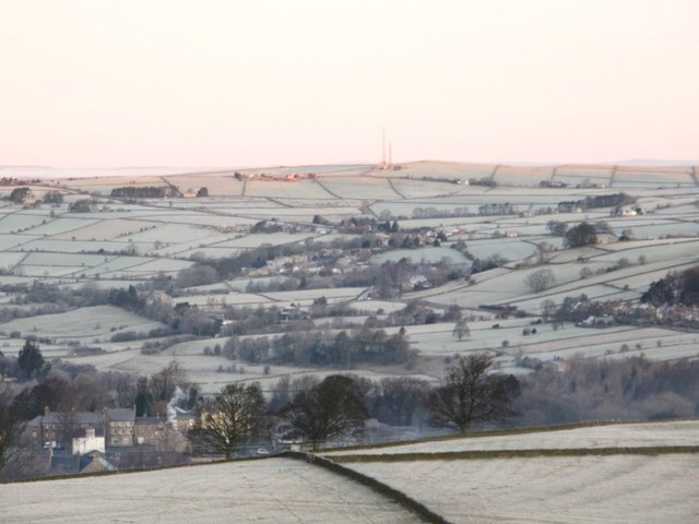 First light on a frosty Catton Beacon