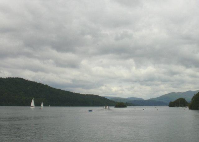 Windermere, Looking north towards Hen Holm
