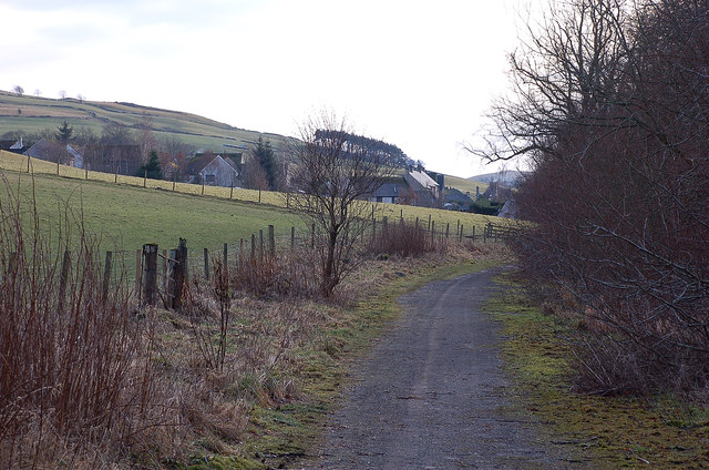 The old Edinburgh road, Eddleston