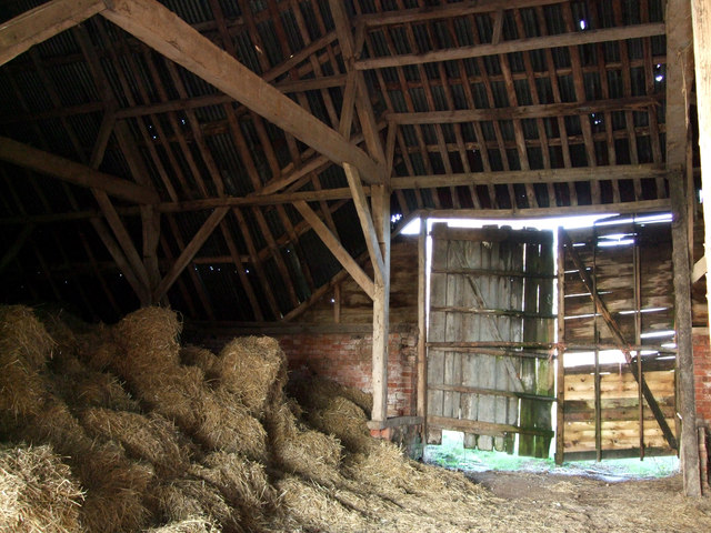 Timber Roof Inside New Barn Near 169 Vieve Forward