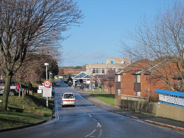 Eastbourne Hospital entrance road