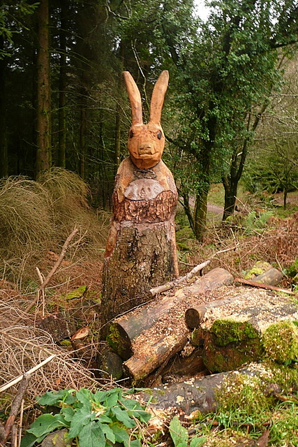 Sculpture in the woodland