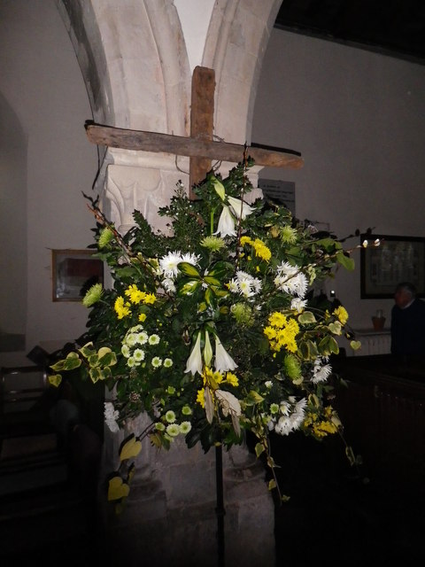 St Peter's at St Mary Bourne- cross