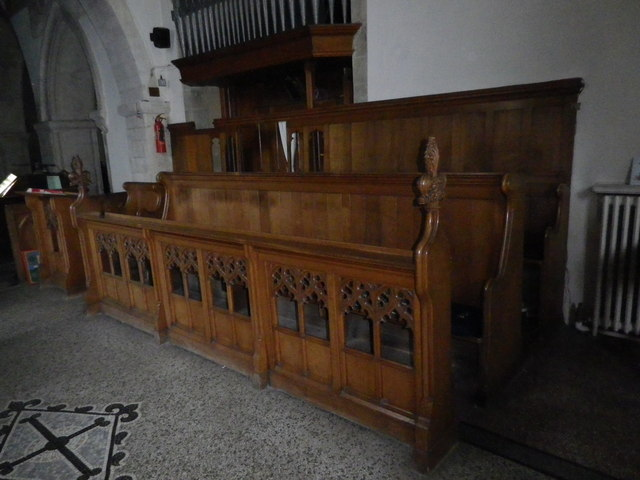 St Peter's at St Mary Bourne- choir stalls