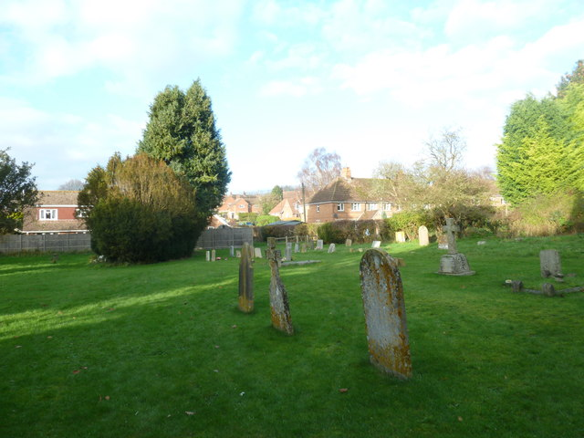 St Peter's at St Mary Bourne- houses behind the churchyard