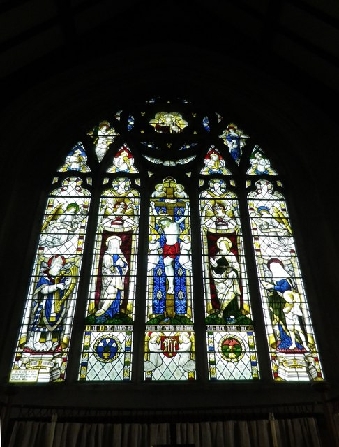 St Peter's at St Mary Bourne- stained glass window (1)
