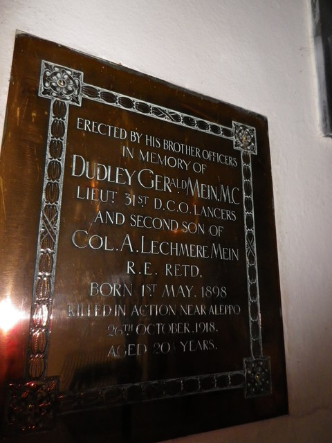 St Peter's at St Mary Bourne- memorial (1)