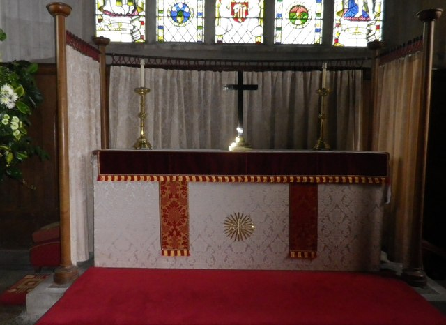 St Peter's at St Mary Bourne- main altar