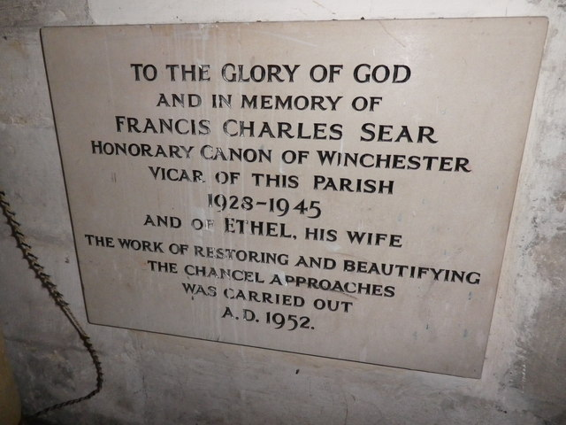 St Peter's at St Mary Bourne- memorial (3)