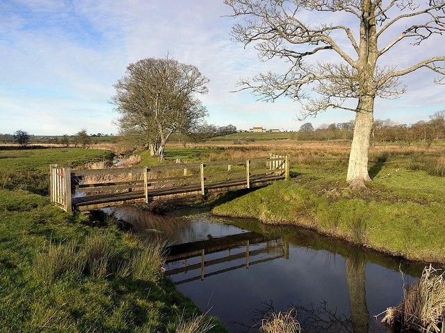 Footbridge over River Pont