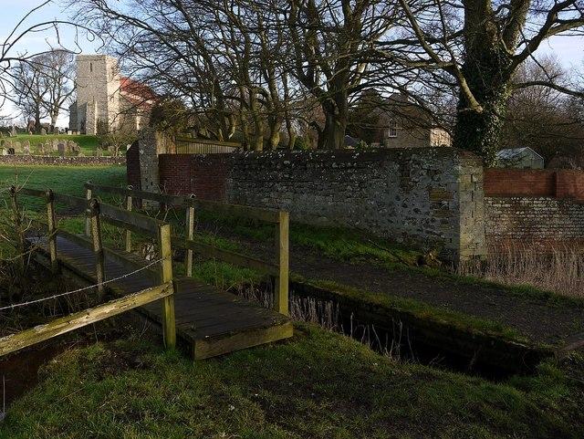 Bridges over How Burn west of St Mary's Church