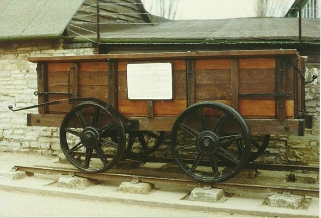 Preserved wagon in Cox's Yard in 1984