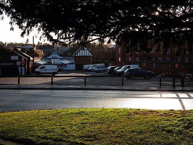 Car park beside Payne's Park, Hitchin