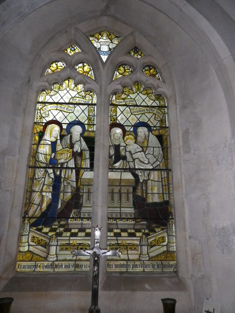 St Peter's at St Mary Bourne- stained glass window (3)