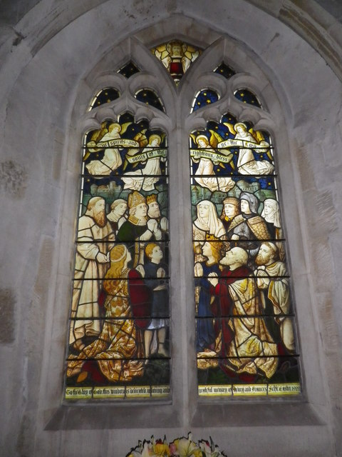 St Peter's at St Mary Bourne- stained glass window (4)
