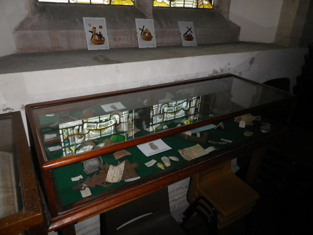 St Peter's at St Mary Bourne- display case