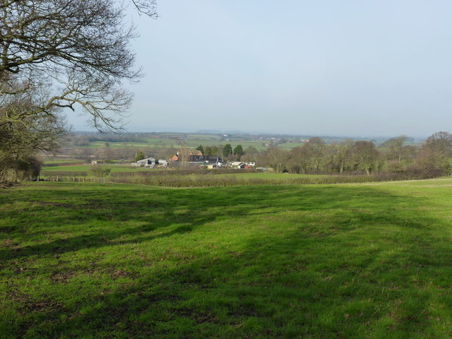 Across fields towards Lythwood View