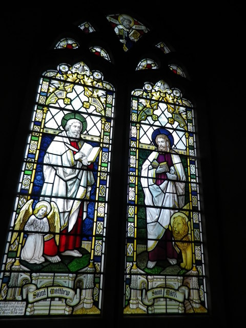 St Peter's at St Mary Bourne- stained glass window (5)