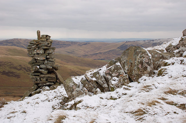 A cairn on Mountbenger Law
