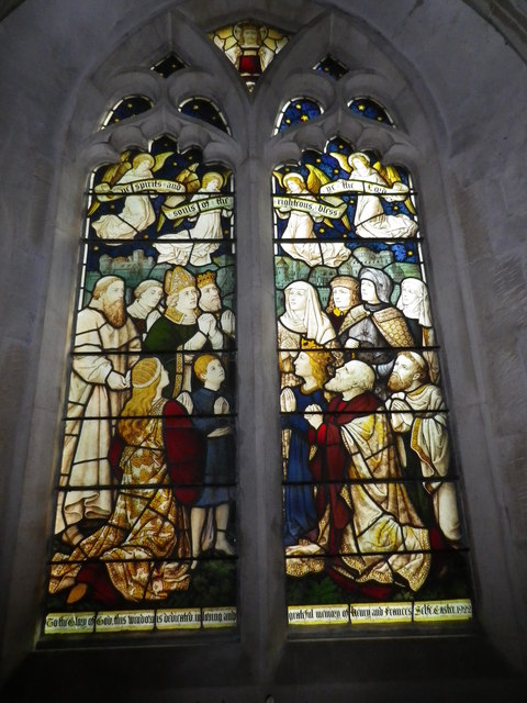 St Peter's at St Mary Bourne- stained glass window (6)