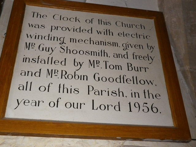 St Peter's at St Mary Bourne- clock commemoration