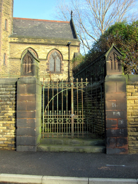 Side gate to the Sacred Heart RC church
