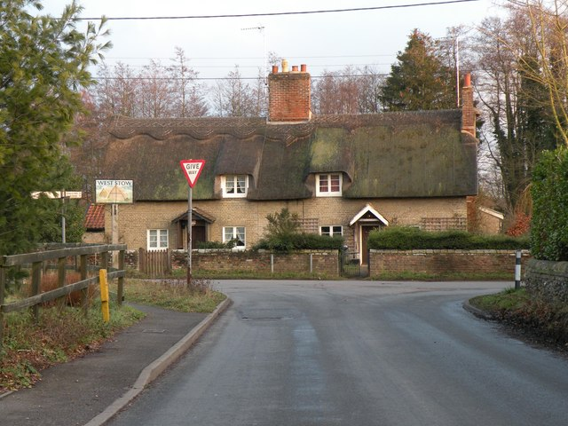 Thatched cottages in West Stow village