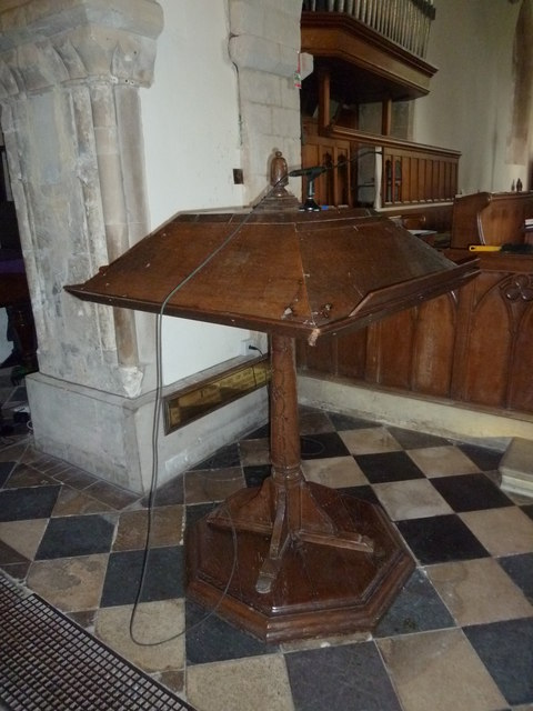 St Peter's at St Mary Bourne- lectern
