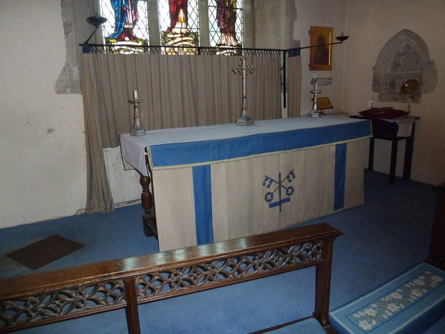 St Peter's at St Mary Bourne- side altar