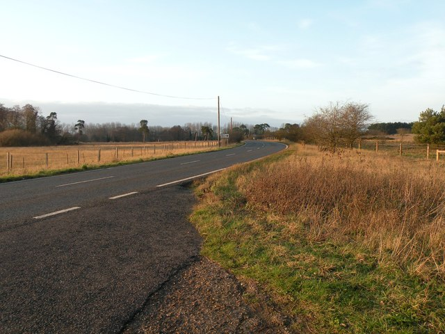 Part of the A1101 at Lackford
