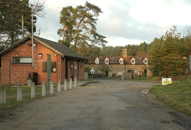 The exit and entrance to West Stow Country Park