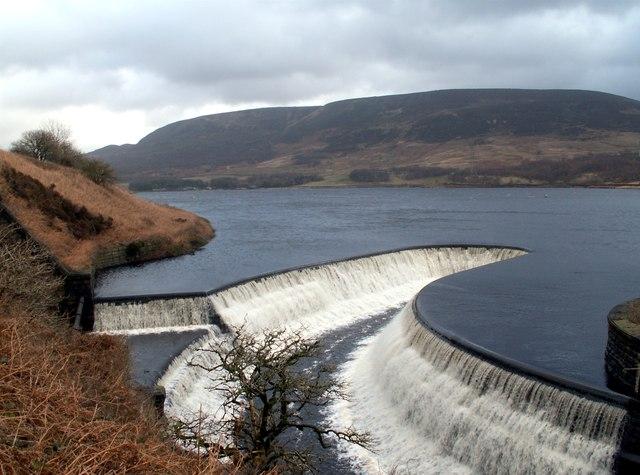 Torside Reservoir overspill to Rhodeswood Reservoir