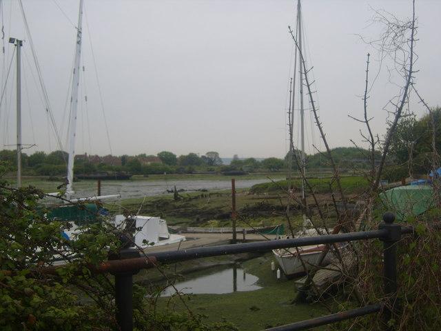 Lake from behind boatyard