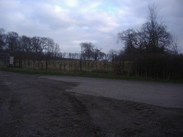Fields by Snowerhill Farm entrance
