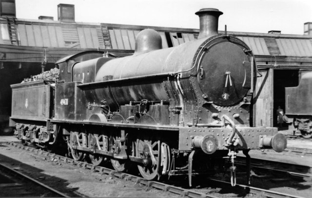 Ex-LNW 0-8-0 at Rugby Locomotive Depot