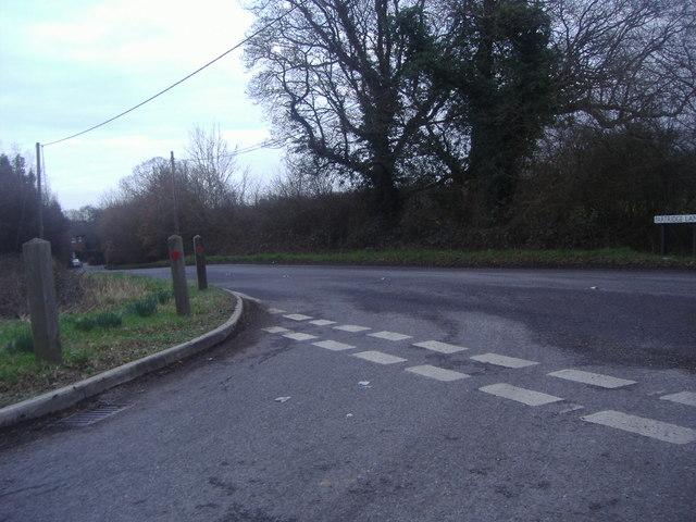 Junction of Broad Lane and Partridge Lane