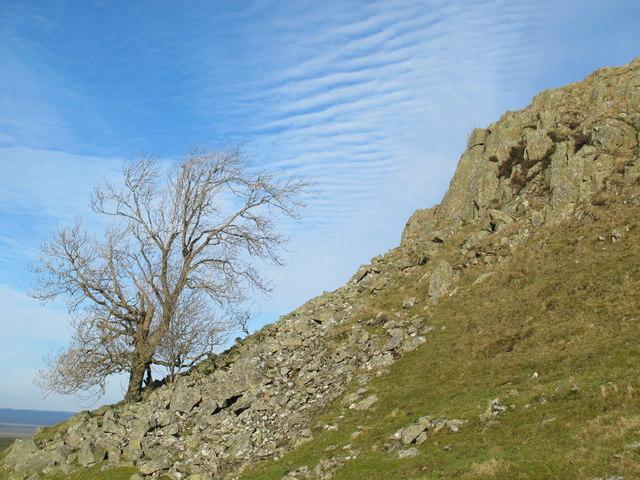 Crags below Turret 44b (Mucklebank) on Hadrian's Wall (2)