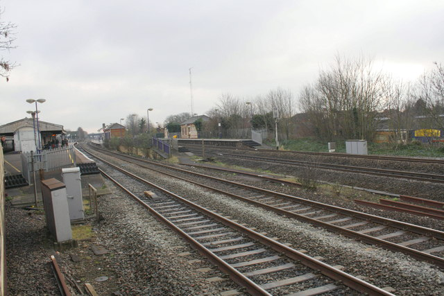 West Drayton station from the Up & Down Goods Line