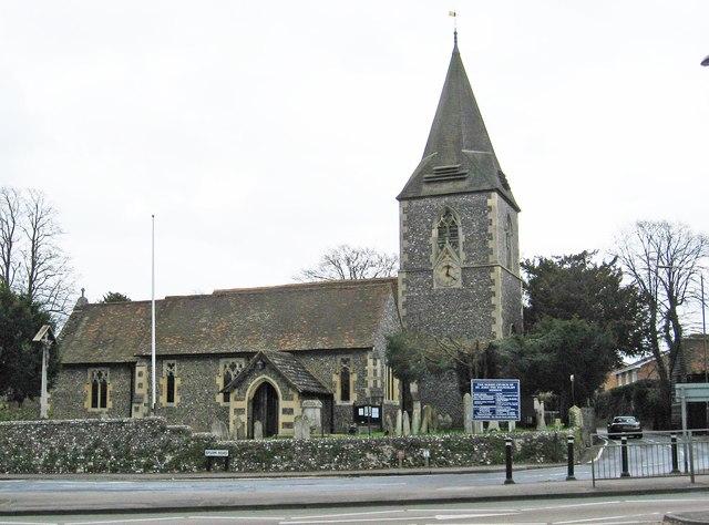 The Parish Church of St. John the Evangelist (1), Epsom Road, Merrow, Guildford