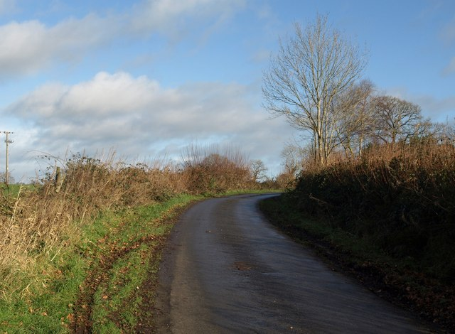 Lane on St Cyres' Hill